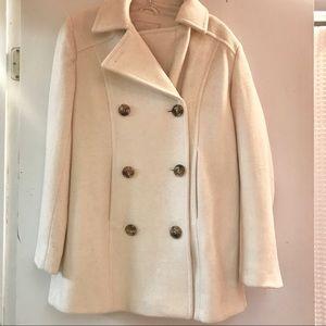 Covington | cream mid-length pea coat